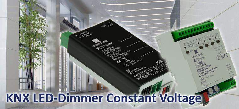 KNX LED constant voltage CV PWM Dimmer - Konstant Spannung LED Dimmer